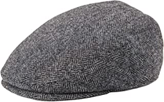 BOTVELA Men's 100% Wool Flat Cap Classic Irish Ivy Newsboy Hat