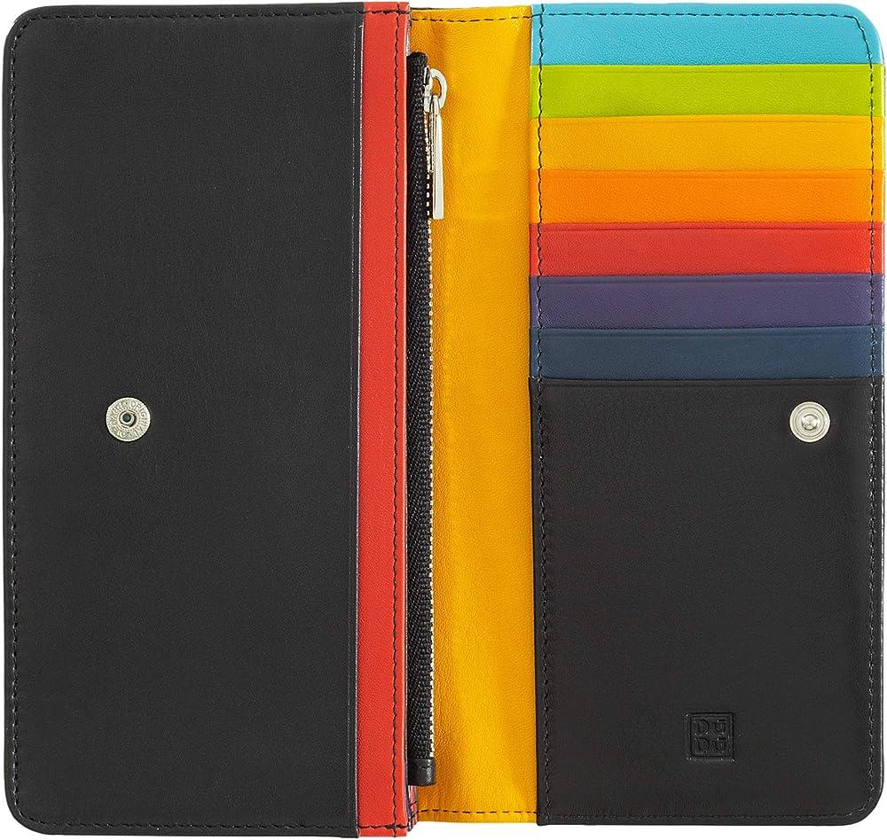 Dudu, portafoglio, porta carte di credito, in pelle morbida multicolore da donna, protezione rfid 8031847129991