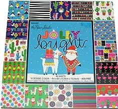 Jolly & Bright 6x6 inch Paper pad, Christmas, Scrapbooking, Paper Crafts, Llamas, Santa, Flamingos
