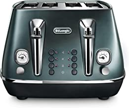 De'Longhi Distinta Flair, 4 Slice Toaster, CTI4003GR, Green