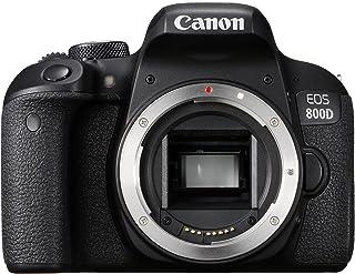 Canon EOS 800D - Cámara réflex de 24.2 MP (pantalla táctil de 3.0 NFC Dual Pixel CMOS AF Bluetooth45 puntos AF 6 fps Full HD WiFi) negro - solo cuerpo