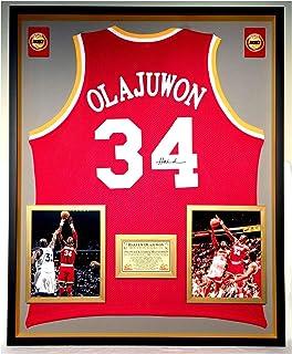 95a2e54a59c Premium Framed Hakeem Olajuwon Autographed Signed Houston Rockets Jersey - JSA  COA