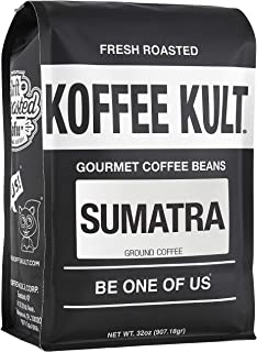 Sumatra Mandheling Ground Coffee - Fresh Roasted Coffee by Koffee Kult 32oz