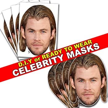 Card Face and Fancy Dress Mask Beard Celebrity Mask Chris Hemsworth