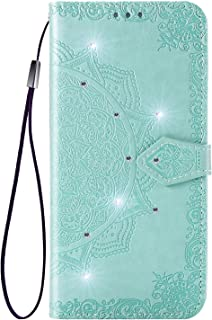 Matop Compatible for Galaxy A6 Plus/A6+/A6+ Case Flip Wallet Kickstand Feature Cover with Credit Cards Slot PU Leather Soft TPU Bumper [Magnetic Buckle] Shockproof Protection Phone Shell