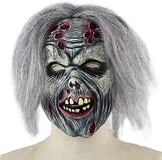 ZJMIYJ Halloween mask, Halloween AAS zombie kostym party Scary Horror latex Horror demon monster huvud mask helmask för ha...