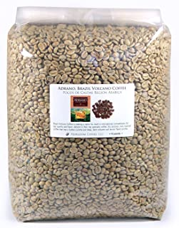 Brazil Adrano Volcano Coffee, Green Unroasted Coffee Beans (10 LB)