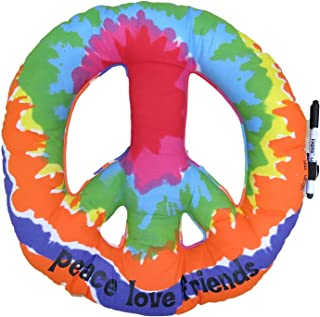 Autograph Pillows Camp Bunk Kids A Great Pre-Camp Gift for Boys Or Girls Tie Dye Peace Sign