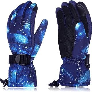 Kids Ski Gloves Snowboard Gloves Winter Touchscreen Gloves Warm Waterproof Snow Gloves for Men Women Kids Outdoor Activities