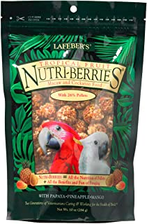 LAFEBER'S Tropical Fruit Nutri-Berries Pet Bird Food, Made with Non-GMO and Human-Grade Ingredients, for Macaws and Cockat...