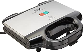 T-fal SM155283 Sandwichera Ultracompact, capacidad para 2 sándwich con calor uniforme, con luz LED indicadora, placas anti...