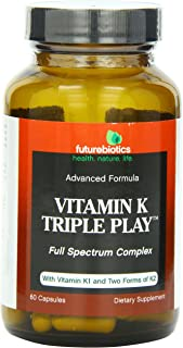 Futurebiotics Capsules, Vitamin K Triple Play, 60 Count
