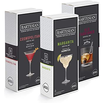 Bartesian Cosmopolitan, Margarita, and Old Fashioned Cocktail Mixer Capsules, Pack of 18 Cocktail Capsules, for Bartesian Premium Cocktail Maker (55405)