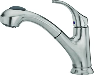 Pfister F-WKP-700S Shelton Stainless Steel 1-Handle Deck Mount Pull-Out Kitchen Faucet (Renewed)
