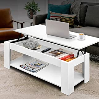 Artiss Lift Up Top Coffee Table - White
