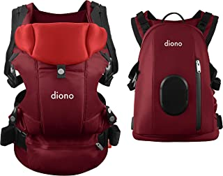 Diono Carus Complete 4-in-1 Child & Baby Carrying System with Detachable Backpack, Red