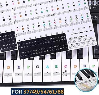 Pegatinas para teclado o piano para teclado de 37/49/54/61/88,transparentes y extraíbles, perfectas para niños y principiantes (Color)