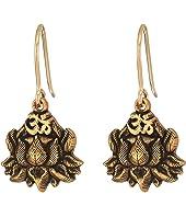 Lotus Peace Petals Hook Earrings
