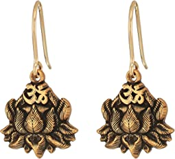 Alex and Ani - Lotus Peace Petals Hook Earrings