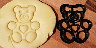 Tagliabiscotti a forma di orsetto Teddy Bear con cuore
