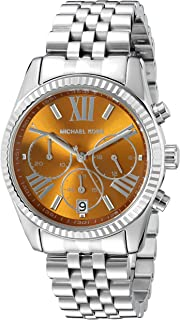 Michael Kors Lexington Women's Brown Dial Stainless Steel Chronograph Watch - MK6221