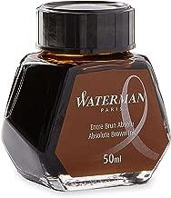 Waterman Fountain Pen Ink, Absolute Brown, 50ml Bottle