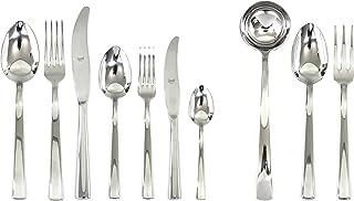 Mepra 103022087 Flatware Set, [87 Piece, Metallic Finish, Dishwasher Safe Cutlery