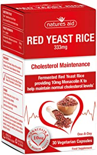Natures Aid Red Yeast Rice 333mg 30 Capsules