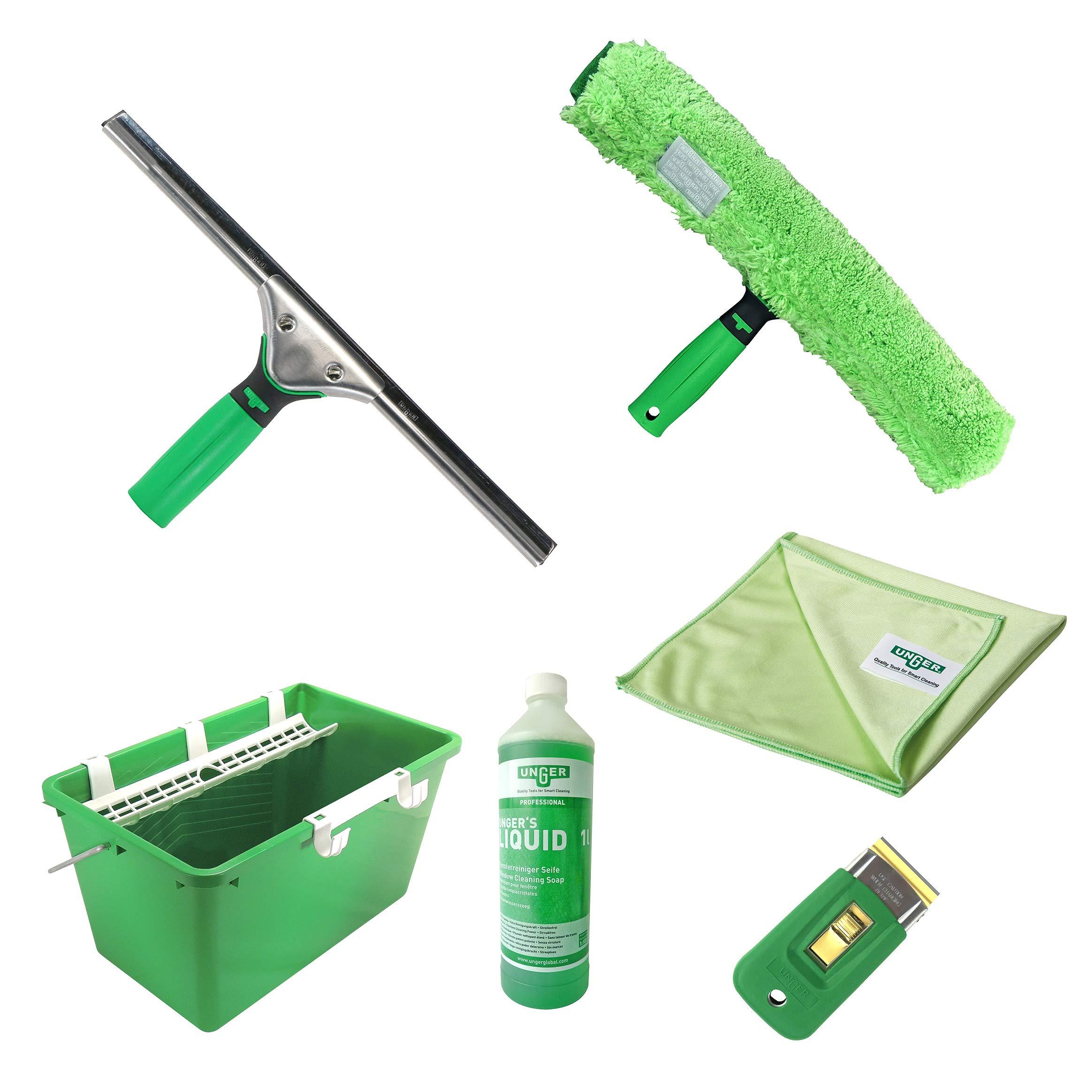 Unger - Set de herramientas para limpiar cristales: Amazon.es: Hogar