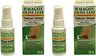 Seagate Products Homeopathic Olive Leaf Throat Spray (Pack of 2) 1 Ounce Raspberry-Spearmint