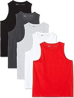 Camiseta de Tirantes con Cuello Redondo Hombre Pack de 5 Marca find