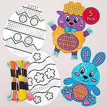 Paquet de 10 Loisirs cr/éatifs pour enfants et adultes Baker Ross Kits paniers de P/âques /à tresser