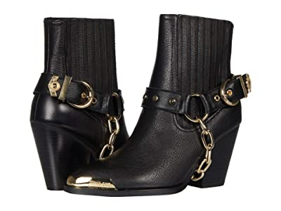 Versace Jeans Couture Harness Chain Ankle Boot (Black) Women