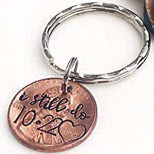 7 Year Anniversary Gift for Him, Copper Anniversary Present, I Still Do Keychain, Penny Keychain, Husband Gifts, Wife Gifts, Custom Penny