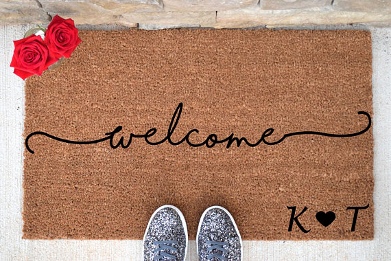 Personalized Welcome Doormat Welcome Mat Welcome Door Mat