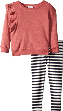 Ruffle Sweatshirt Set (Little Kids)