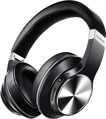 Hybrid Active Noise Cancelling Headphones, vankyo C751 Over Ear Wireless Bluetooth Headphones with CVC 8.0 Mic, Deep ...