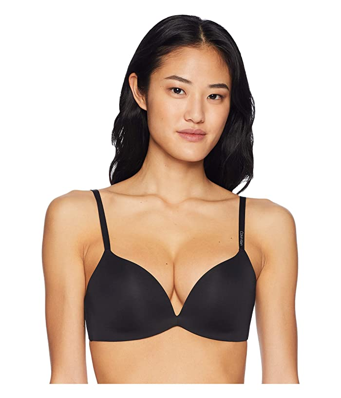 Calvin Klein Underwear  Form Push-Up Plunge Bra (Black) Womens Bra