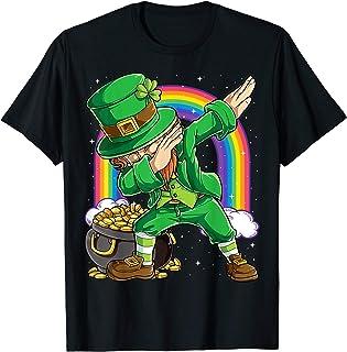 St Patricks Day Dabbing Leprechaun Boys Kids Men Gifts Dab T-Shirt