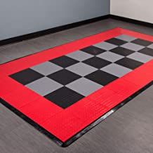 IncStores Coin Nitro Tile - Motorcycle Mats (Black/Victory Red)