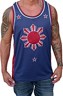 Soldier Tanks Blue Red Filipino Basketball Jersey Tank Top Philippines Pinoy Pride