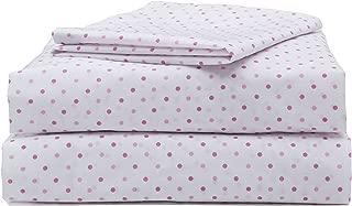 Girls Toddler Sheet Set, 3-Piece Pink Polka Dots by Delta Children