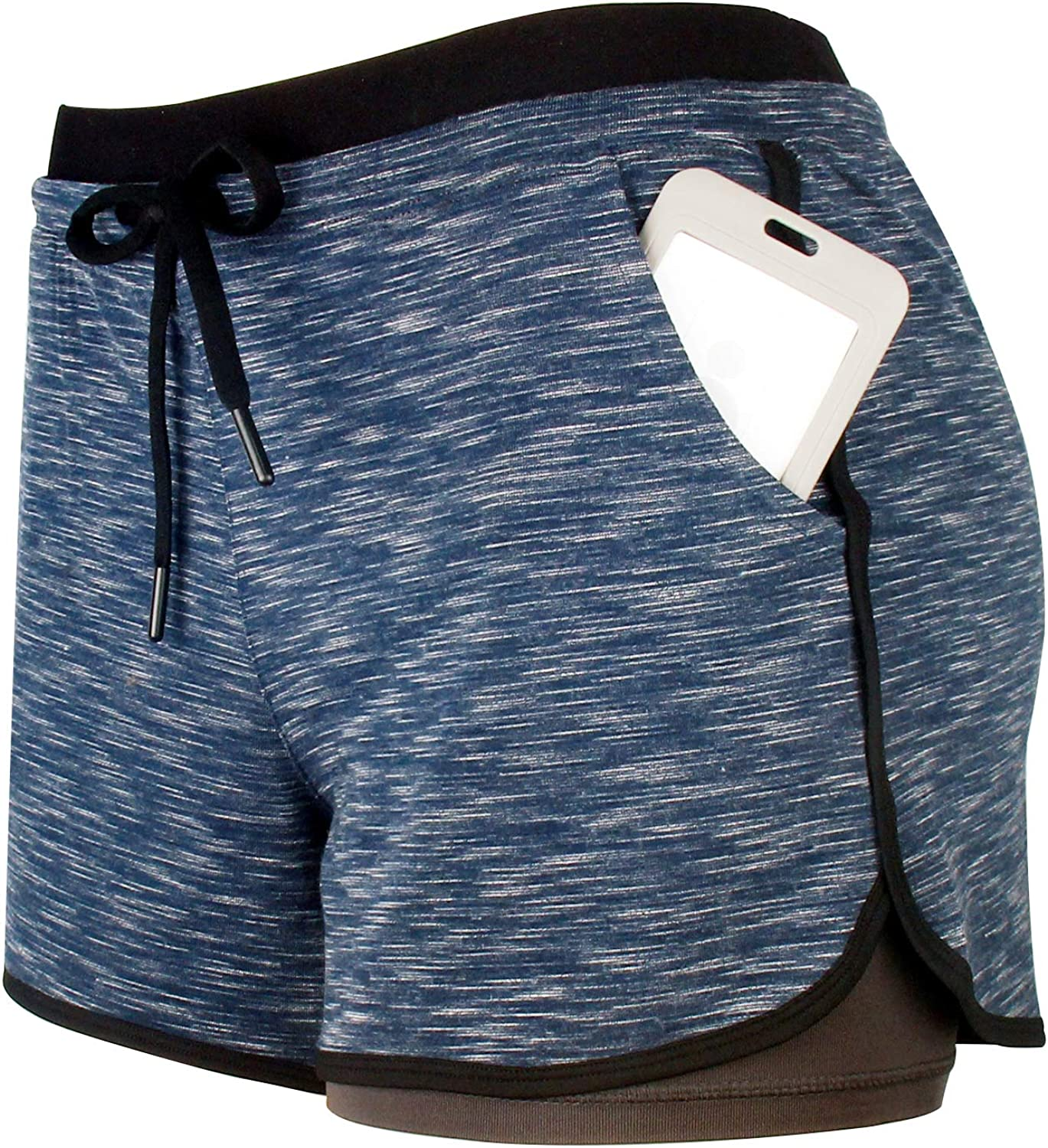 RIBOOM Women Workout Running quality assurance Very popular Shorts 2 S 1 Athletic in Sport Yoga
