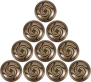 HEALLILY 10Pcs Patterned Botões de Vestuário Botões Botões de Metal Decorativos Do Vintage Redonda de Metal Botões para Ar...
