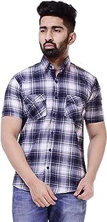 NxtSkin Men's Shirt Half Sleeves Checkered