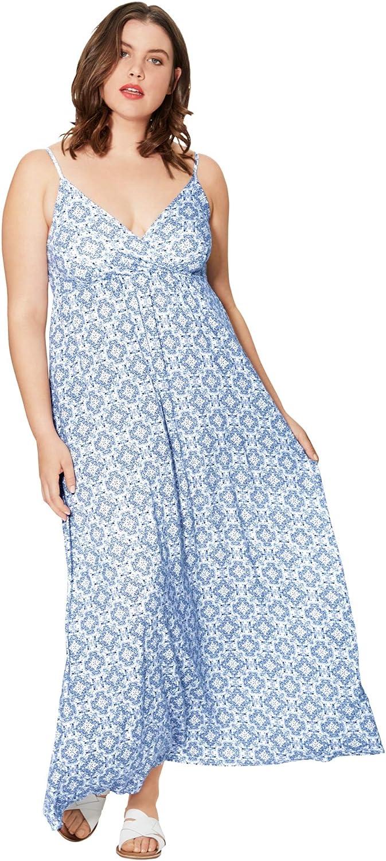 Seasonal Wrap Popularity Introduction ellos Women's Plus Size Maxi Dress Surplice Knit