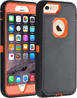 Co-Goldguard iPhone 6s Plus/6 Plus Case,HEAVY DUTY Armor 3 in 1 Rugged Cover with Front Frame Dust-Proof Shockproof Drop-Proof Scratch-resistant Anti-slip Shell for iPhone 6+/6s+ 5.5 inch,Black/Orange