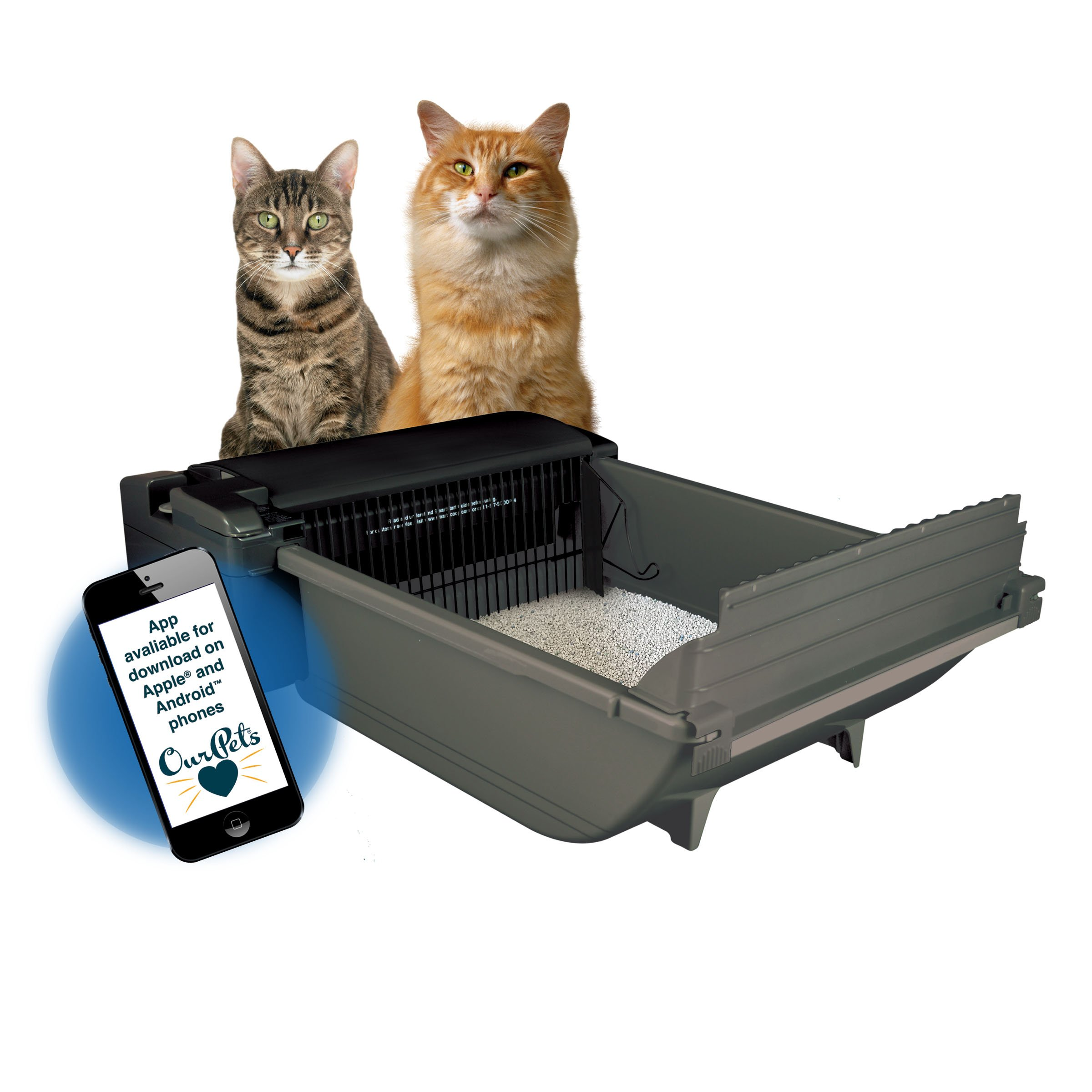 Our Pets Smart Scoop Intelligent Bluetooth Litter Box Self Cleaning Health Monitoring System