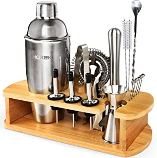 Cocktail Shaker Set with All Accessories, HOKEKI Bar Tool...