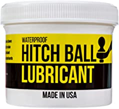 Mission Automotive 4oz Trailer Hitch Ball Lubricant - Grease to Reduce Friction and Wear on Tow Hitch Mount Balls, King Pins, Hitch Locks, etc. - Waterproof Lube Made in The USA